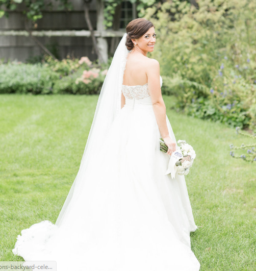 Style Me Pretty - Hamptons Backyard Wedding