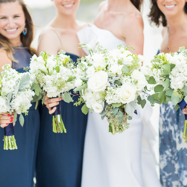 Style Me Pretty - Elegant Black Tie Hamptons Beach Wedding